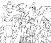 Coloriage Pokémon Ex à colorier