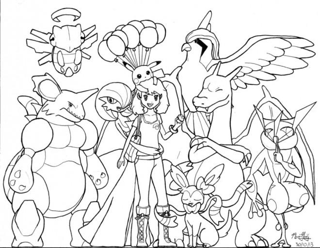 Coloriage et dessins gratuits Pokémon Ex à colorier à imprimer
