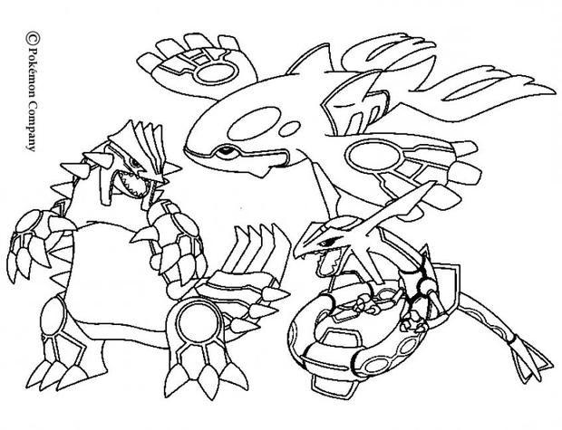 Coloriage et dessins gratuits Pokemon Ex maternelle à imprimer