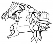 Coloriage Pokémon Ex vecteur