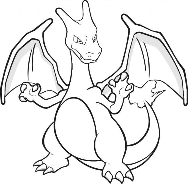 Coloriage et dessins gratuits Pokémon feu Ex à imprimer