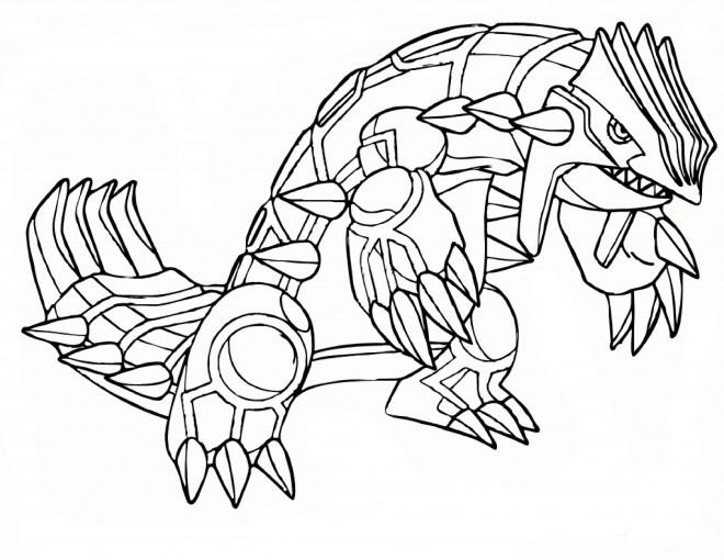 Coloriage Pokemon Groudon Dessin Gratuit A Imprimer