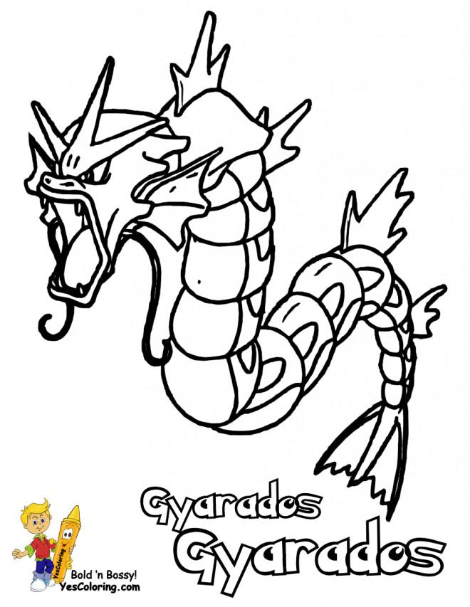 Coloriage et dessins gratuits Pokémon Gyarados  Ex à imprimer
