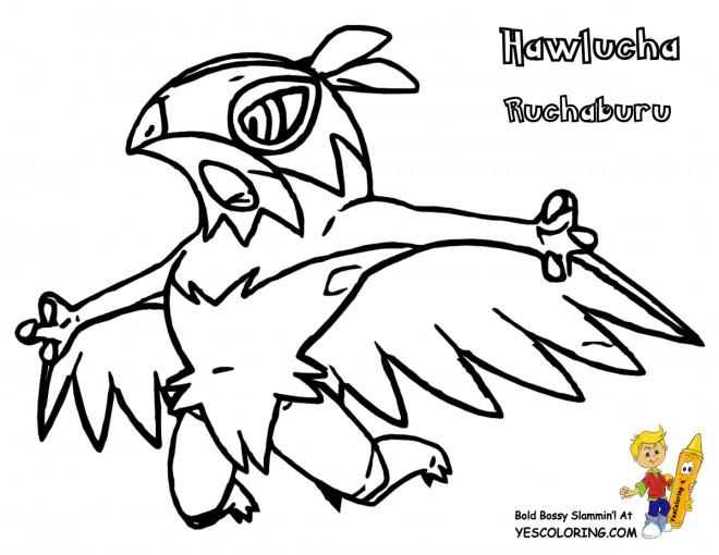 Coloriage et dessins gratuits Pokémon Hawlucha à imprimer