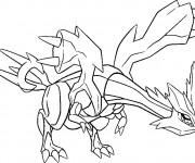 Coloriage et dessins gratuit Pokémon Kyurem à imprimer
