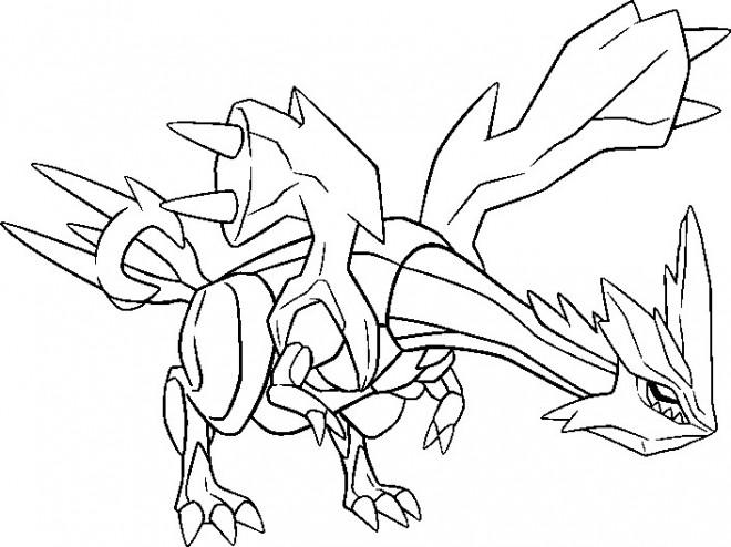 Coloriage et dessins gratuits Pokémon Kyurem à imprimer