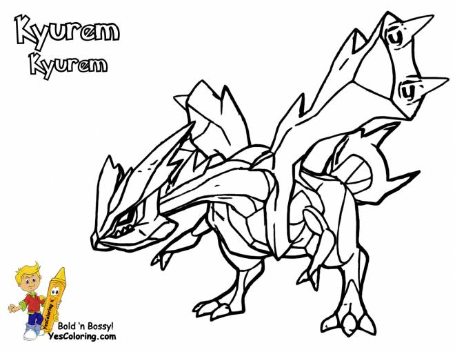 Coloriage Pokemon Kyurem A Colorier