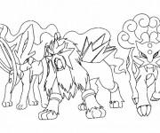 Coloriage et dessins gratuit Pokémon légendaire en ligne à imprimer