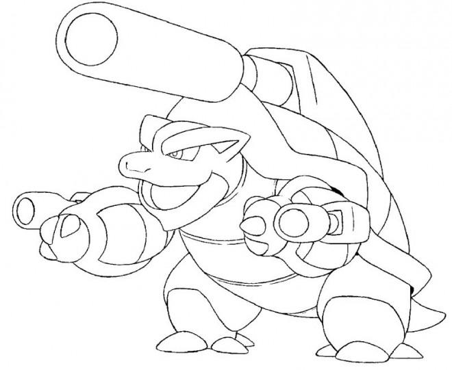 Coloriage pok mon m ga tortank dessin gratuit imprimer - Tortank pokemon y ...