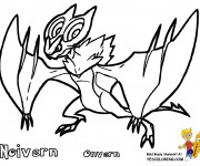 Coloriage Pokémon Noivern