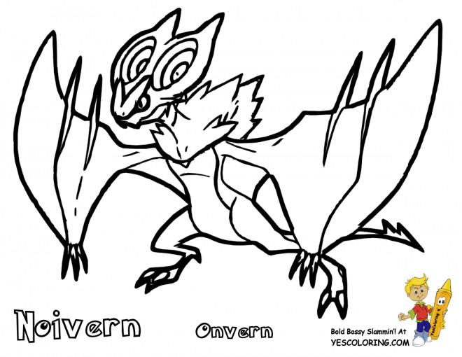 Coloriage et dessins gratuits Pokémon Noivern à imprimer