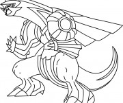 Coloriage Pokémon Palkia facile