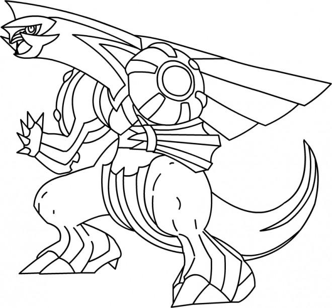 Coloriage et dessins gratuits Pokémon Palkia facile à imprimer