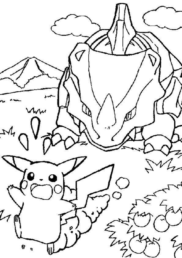 Coloriage et dessins gratuits Pokémon Pikatchu Ex à imprimer