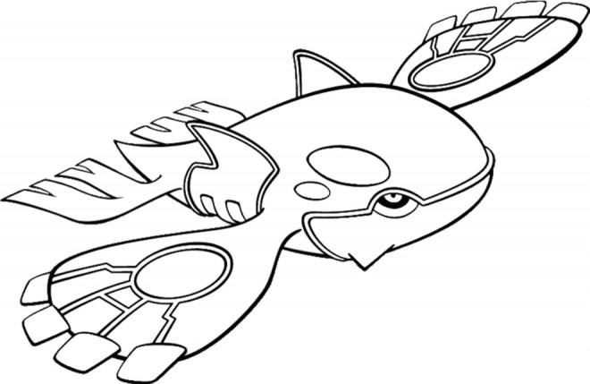 Coloriage Pokemon Primal Kyogre Dessin Gratuit à Imprimer