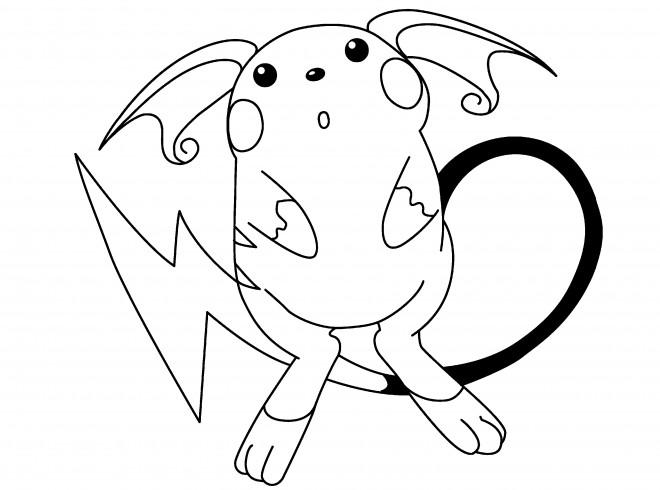 Coloriage et dessins gratuits Pokémon Raichu à colorier à imprimer