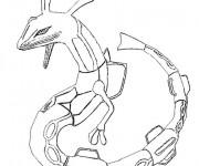 Coloriage Pokémon Rayquaza
