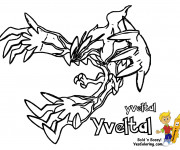 Coloriage et dessins gratuit Pokémon Yveltal à imprimer