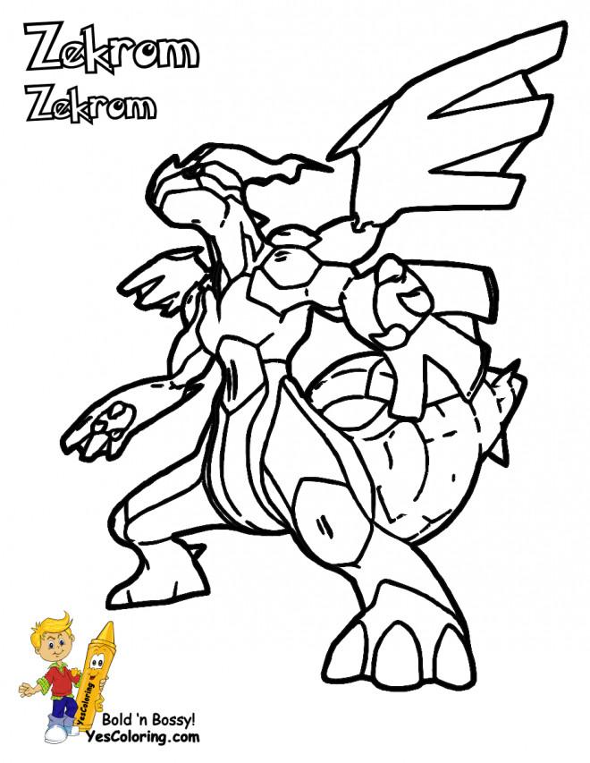 Coloriage Pokemon Zekrom Dessin Gratuit A Imprimer
