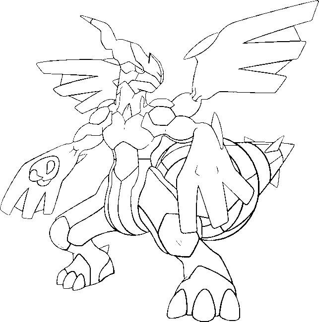 Coloriage et dessins gratuits Pokémon Zekrom Ex à imprimer
