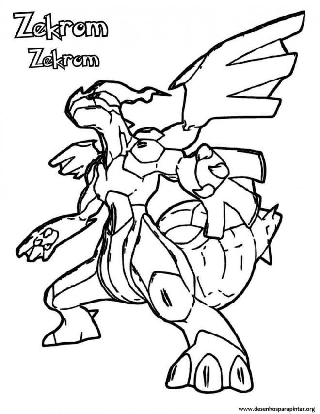 Coloriage Pokemon Zekrom Stylise Dessin Gratuit A Imprimer