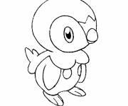 Coloriage et dessins gratuit Tiplouf le Pokémon Pingouin à imprimer