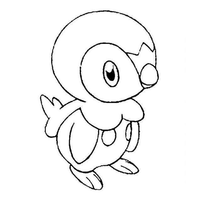Coloriage et dessins gratuits Tiplouf le Pokémon Pingouin à imprimer