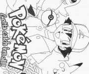 Coloriage Affiche de Série Les Pokémon