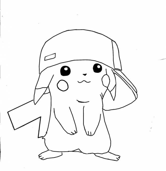 Coloriage dr le de pikachu pok mon dessin gratuit imprimer - Coloriage drole a imprimer ...