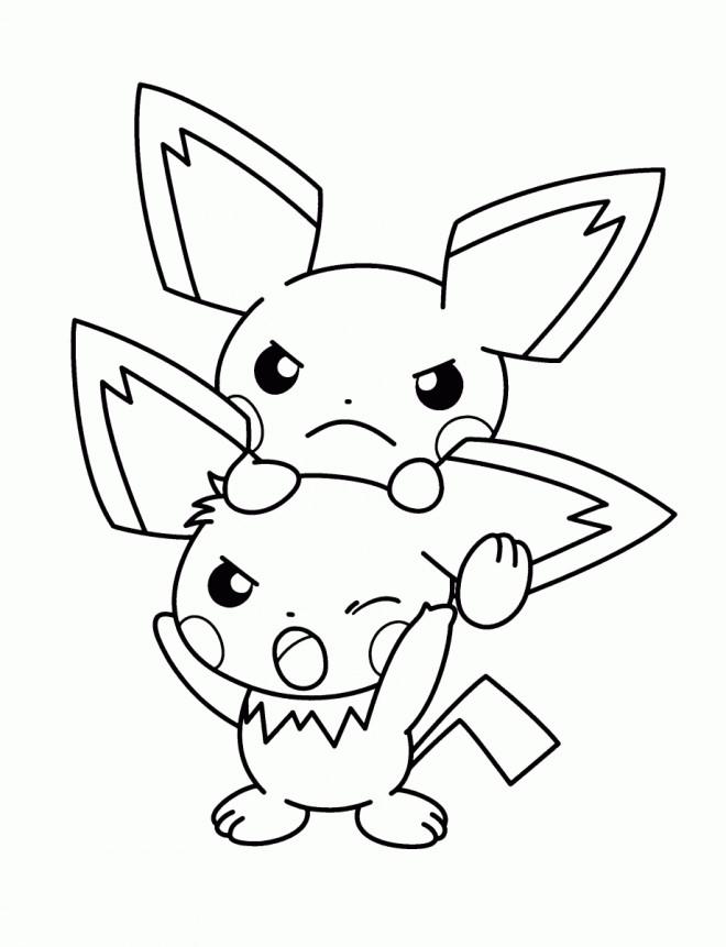 Coloriage Evoli Pokémonen Couleur Dessin Gratuit à Imprimer