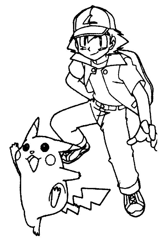 Coloriage et dessins gratuits Les Pokémons stylisé à imprimer