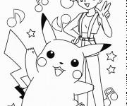 Coloriage Ondine Pikachu et La Musique