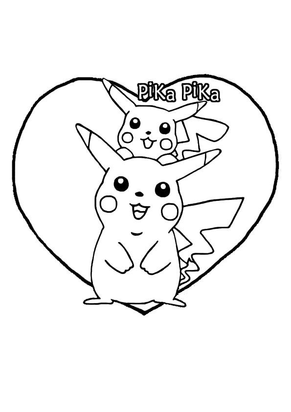 Coloriage et dessins gratuits Pika Pika Pikachu à imprimer