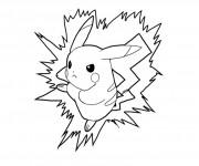 Coloriage dessin  Pikachu 1