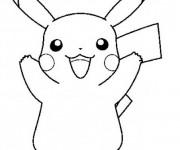 Coloriage dessin  Pikachu 11
