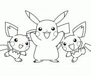 Coloriage dessin  Pikachu 5