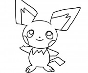 Coloriage dessin  Pikachu 8