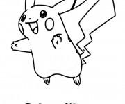 Coloriage et dessins gratuit Pikachu à découper à imprimer
