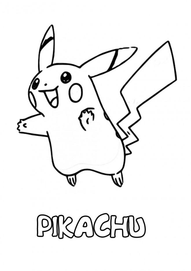 Coloriage et dessins gratuits Pikachu à découper à imprimer
