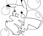 Coloriage Pikachu adorable
