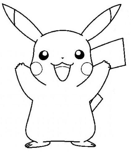 Coloriage et dessins gratuits Pikachu dessin animé à imprimer