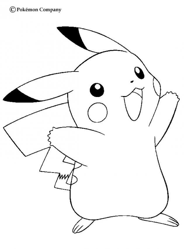Coloriage et dessins gratuits Pikachu en couleur à imprimer
