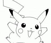 Coloriage et dessins gratuit Pikachu en Ligne à imprimer