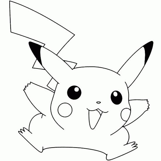 Coloriage et dessins gratuits Pikachu en Ligne à imprimer