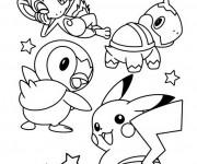 Coloriage Pikachu et Les Pokémons