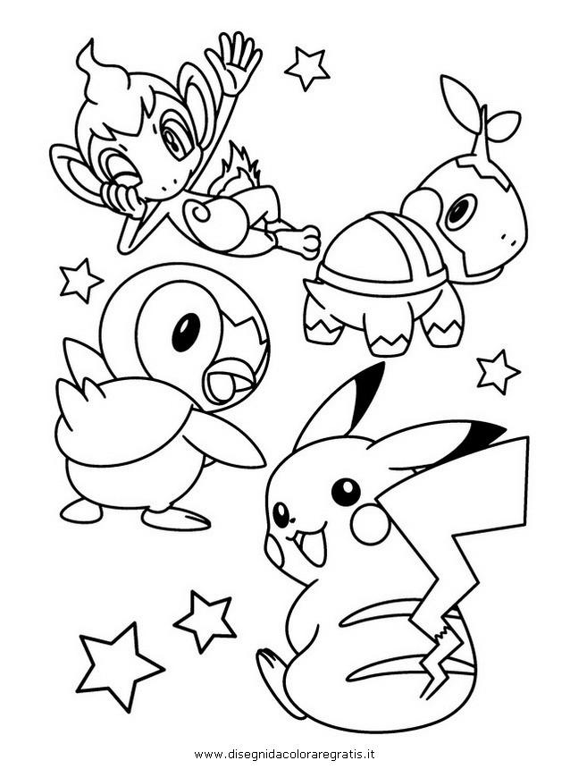 Coloriage et dessins gratuits Pikachu et Les Pokémons à imprimer