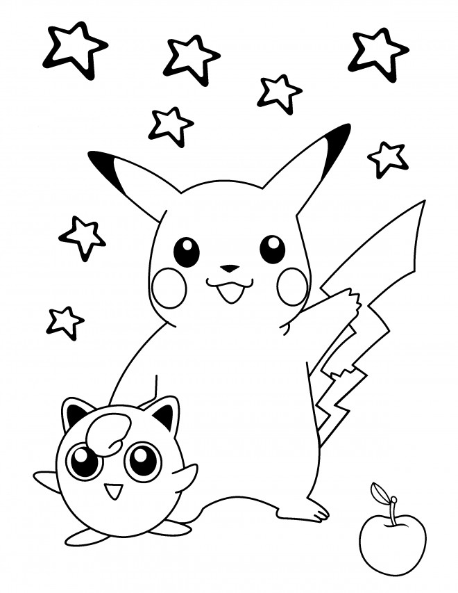 Coloriage Pikachu Kawaii Dessin Gratuit A Imprimer