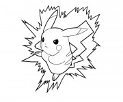 Coloriage Pokemon Pikachu