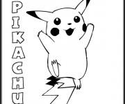 Coloriage Pikachu Pixel