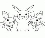 Coloriage et dessins gratuit Pikachu stylisé à imprimer